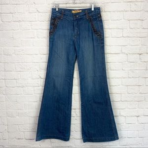 Dittos Western Super Flare Light HighRise Jeans 28